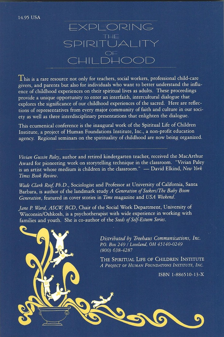 Exploring Spirituality of Children Back Cover
