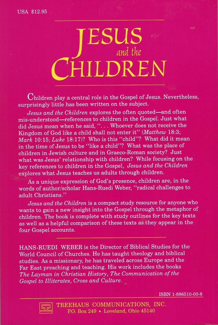 Jesus & the Children Back Cover